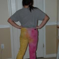 Repurposing (Upcycled) Fashion Clothing: Making Colored Jeans