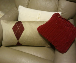 Repurposing Clothing into Decorations: Homemade Sweater Pillow