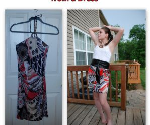 Refashioning a Skirt from a Dress