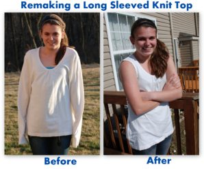 Remaking a Long Sleeved Knit Top