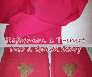 Upcycle a T-Shirt Into a Simple Heart Scarf