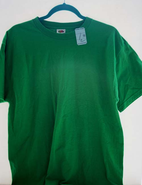 Bleach spray shirt shamrock diy sewing tutorial for st for How to bleach designs into shirts