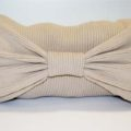 Sofa Bow Pillow From a Man's Sweater