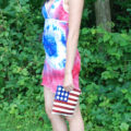 Fabulous July 4th Tie Die Dress From Two Men's White T-Shirts