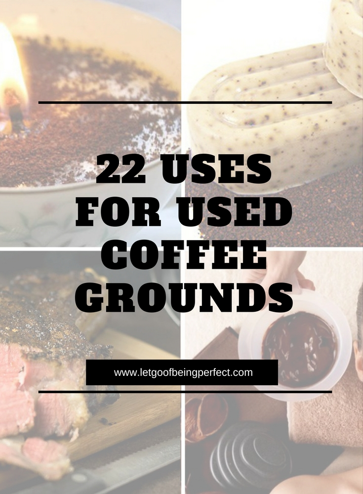 22 Uses for Used Coffee Grounds Don't throw those used coffee grounds into the trash! Upcycle them in 22 useful and awesome ways. Upcycle used coffee grounds into beauty products, facial scrub, composting, and even food cooking recipes. Remake, redo, reuse, and recycle to help save money and save the planet. Explore the web site for more refashioning tutorials, dozens of cute refashionista and fashion ideas with good, clear photos and instructions. http://letgoofbeingperfect.com/