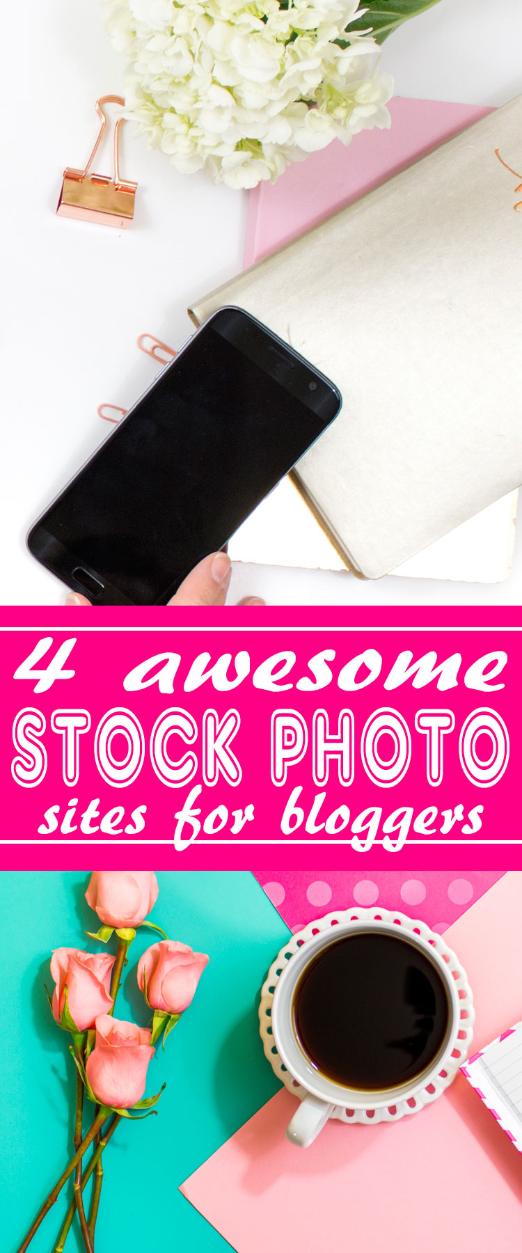 Photography is so important for blog posts. These 4 stock photography sites were created just for bloggers like you. All offer free stuff for bloggers (such as a bunch of free flat-lay photos), inexpensive packages, and most of all -- awesome photographs! Bloggers can create hundreds of different images, instantly, for all of your blog posts and social media content! Make your blog beautiful. :) http://letgoofbeingperfect.com/
