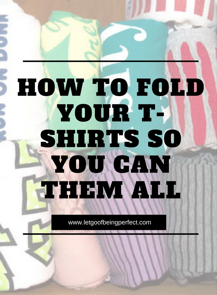 Folding T-Shirts the Best Way So You Can See All Your Shirts - Fold your t-shirts in the drawer like a boss - so you can see every t-shirt you own, and keep it organized. #cleaning #organizing #organize #organization #folding #laundry-hacks A step-by-step tutorial on how to efficently fold your shirts in an upright position. Explore the web site for more refashioning tutorials, dozens of cute refashionista and fashion ideas. http://letgoofbeingperfect.com/