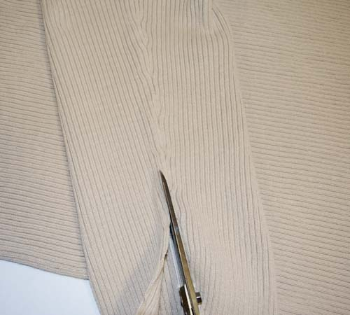 Sofa Bow Pillow From a Man's Sweater - Step-by-step sewing tutorial with clear photographs and instructions. Upcycle a sweater, and refashion clothes into this cute home decoration. A great, low-cost way to change up your home accessories for each season, or just style your home on the cheap. Remake, redo, reuse, and recycle to help save money and save the planet. Explore the web site for more refashioning tutorials, dozens of cute refashionista and fashion ideas. http://letgoofbeingperfect.com/